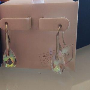 Earrings.With Svarovski zirconia.